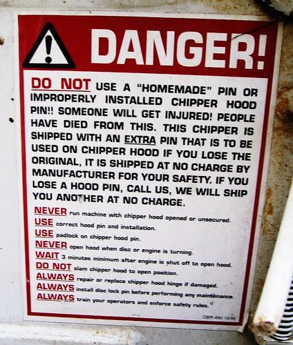pin danger