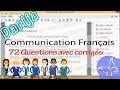 72 Questions avec corrigés Communication Français