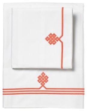 Coral Gobi Embroidered Sheet Set - traditional - sheet sets - - by ...
