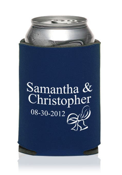 Personalized Collapsible Wedding Can Cooler   KZW45