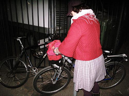 Red Jacket & Bike Locking