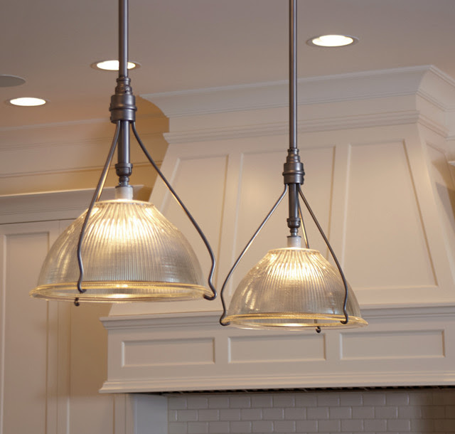 Vintage Holophane Pendants  Traditional  Kitchen Island Lighting  milwaukee  by Brass Light