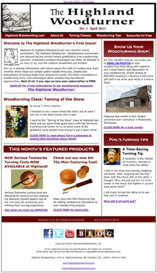 Highland Woodworking Newsletter - ofwoodworking