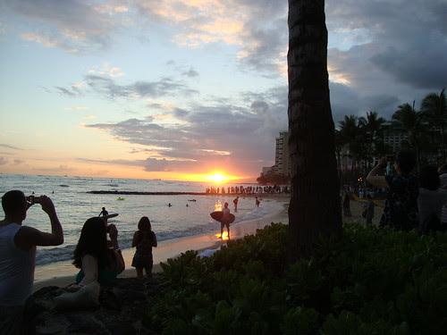sunset at Waikiki Beach 4/30/13