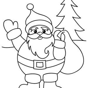 cute santa claus drawing at getdrawings  free download