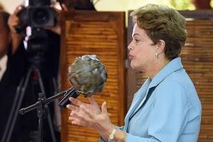 Dilma Rousseff, abertura dos Jogos Mundiais dos Povos Indígenas (Foto: Evaristo Sá / AFP)