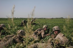 Marines engaged in a six-hour firefight