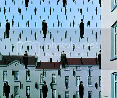 Magritte –Golconde-