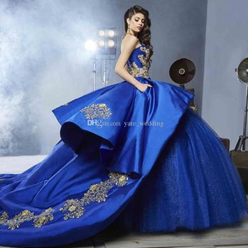 royal blue ball gown quinceanera dresses
