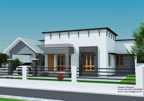 small plot  bedroom single floor house  kerala