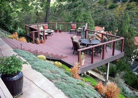waters wise landscape design hillside deck steep