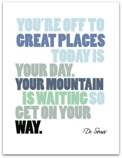 Dr. Seuss Quote Print- The Village Press