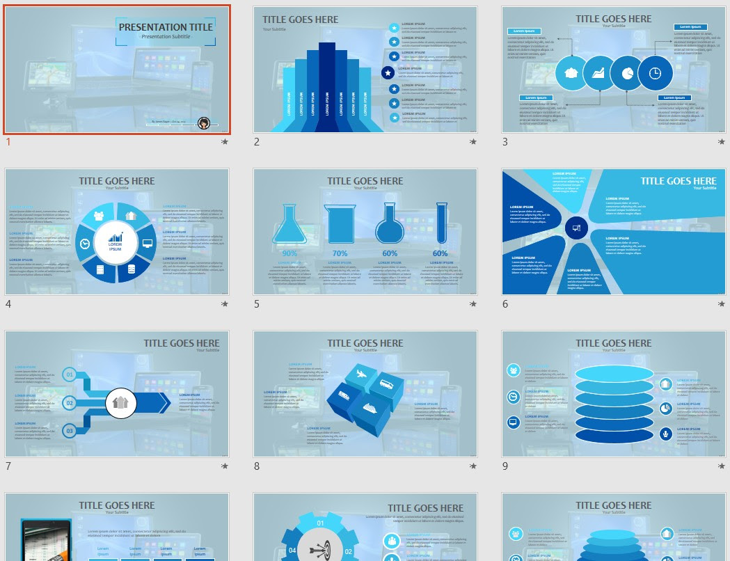 Electronic Devices Powerpoint Template 75153