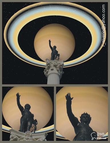 Saturn from Bolívar Square 2. 10:00 pm (Saturno desde La Plaza Bolívar 2. 10:00 pm) by Niño Jesús