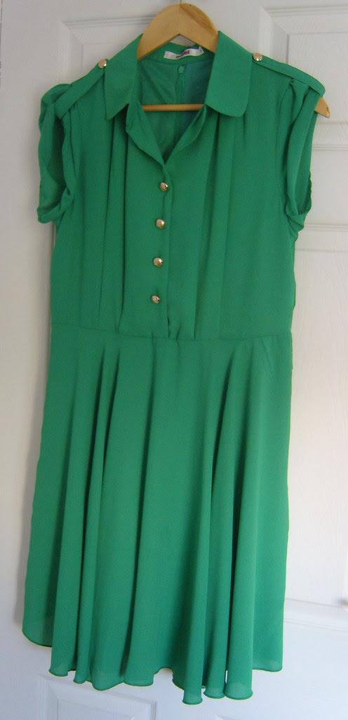 eBay Green Shirt Dress