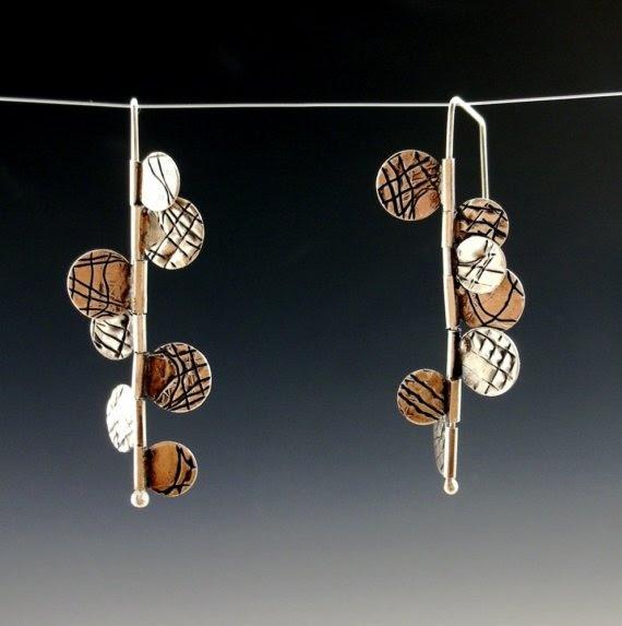 fringe hinge kinetic earringsmade by mark kaplan