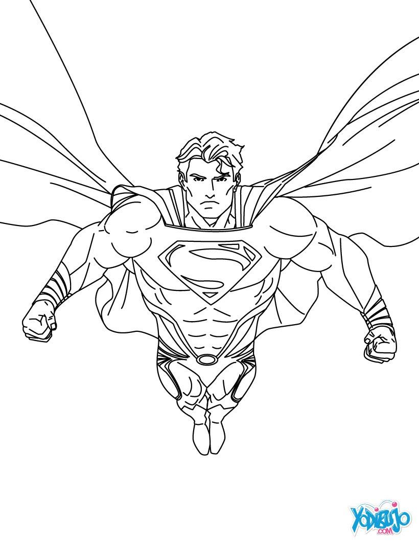 Dibujos Para Colorear La Liga De La Justicia De América Es