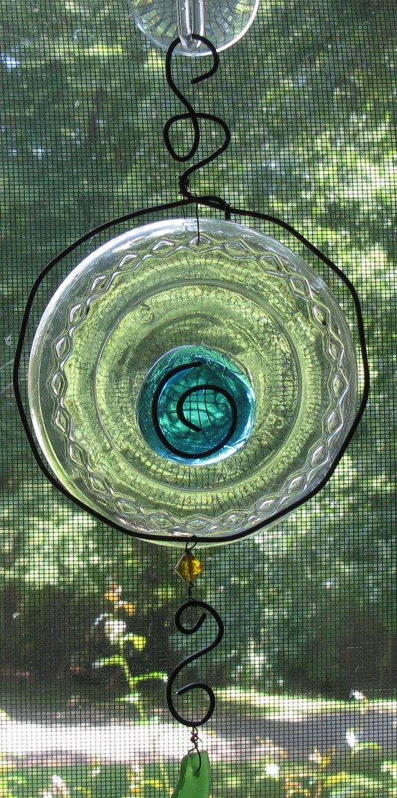 Suncatcher Window Art Recycle Glass From Recycle Bottle - Serendipitini