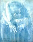 """Bruno Steinbach. """"Transcendência dos Sentidos - o Céu de Aladiah"""". Acrílica/cartão, 95 x 75 cm, 1998, Mossoró, Rio Grande do Norte, Brasil. Da série """"Nômades Amantes do Tempo. Acervo do Artista. Catálogo 80."""