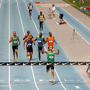Nick Symmonds winning the men's 800m national ...