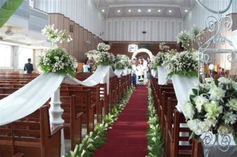 church wedding floral arrangement   This is our Actual