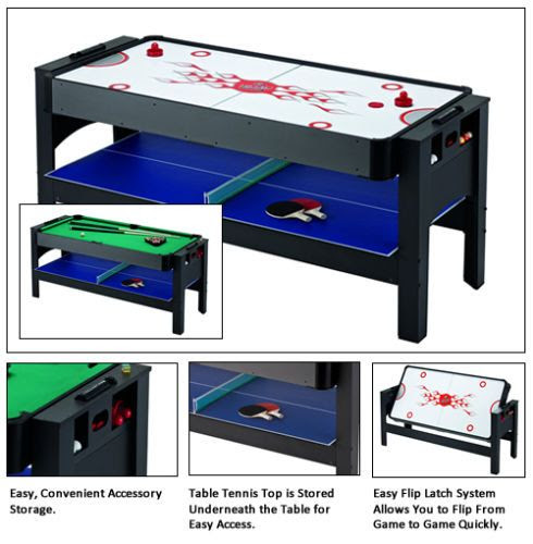 Air Hockey Table Tennis Top Espn Ping Pong Combo Pool