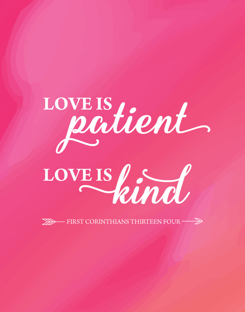 Love Is Patient Love Is Kind 1 Corinthians 134 Seeds Of Faith