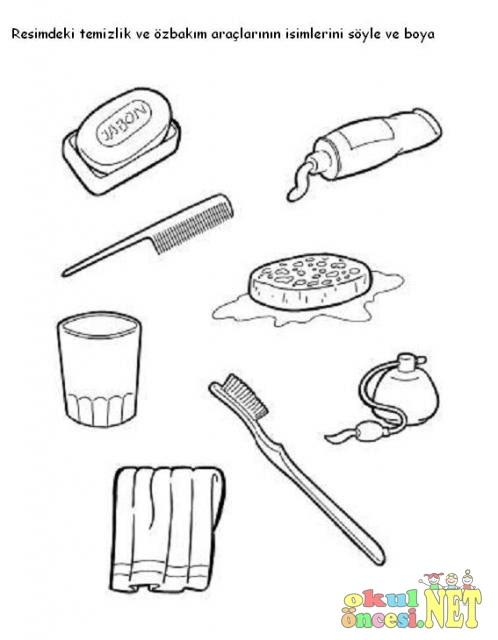Temizlik Ve özbakım Araçlarını Boyama