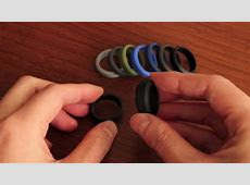 Men's silicone wedding rings that look like metal wedding bands   YouTube