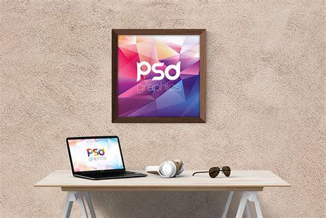 square wall frame mockup psd psd graphics