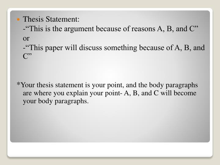 how to identify a thesis statement