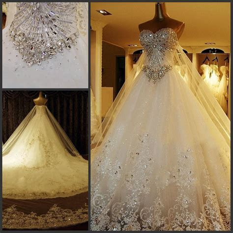 Discount Custom Luxury Wedding Dress Real Photo 2015