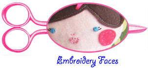embroidery faces doll