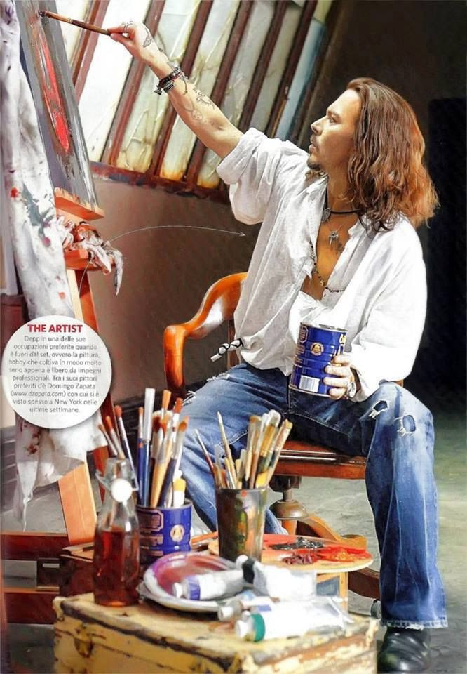 Johnny Depp - I wish my college art partner looked like this. No offense Dave, you were always no. 1!