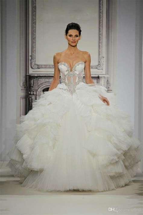 Luxury Pnina Tornai Bridal Gowns Vintage Castle Ball Gown