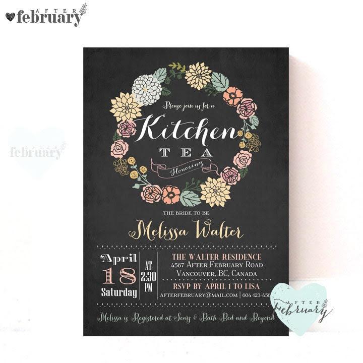 kitchen tea invitation – Etsy AU