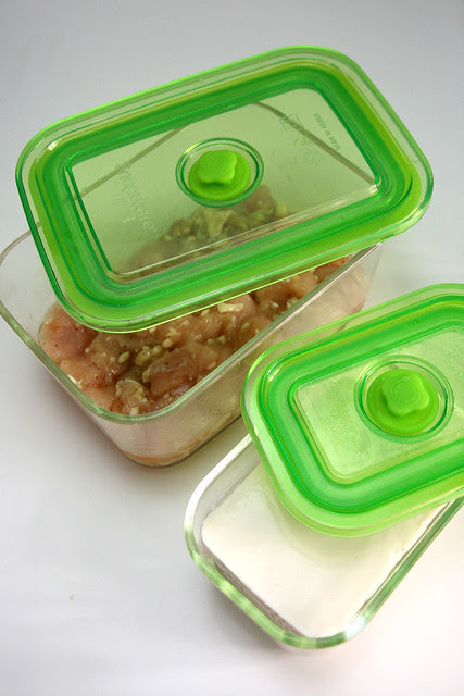 The Airtight Eco One-Touch is great for marinating and storing items in the fridge or freezer, and can be used for baking too!