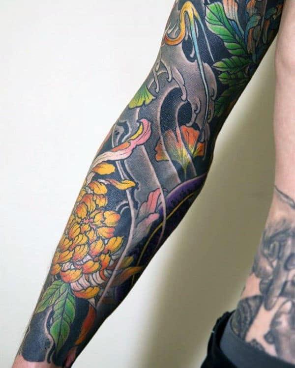 100 Chrysanthemum Tattoo Designs For Men Flower Ink Ideas