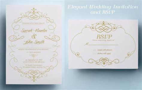 Elegant Wedding Invitation Template, Classic Wedding