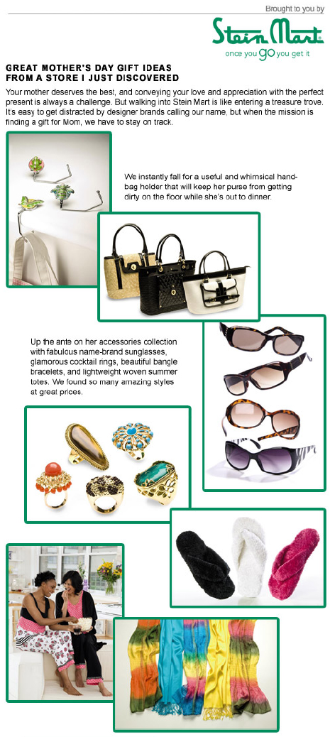 Mother's Day gift ideas from Stein Mart