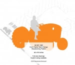 Farm Tractor Team Orange Yard Art Woodworking Pattern - fee plans from WoodworkersWorkshop® Online Store - Kubota tractors,farmers,farming,on the farm,silhouettes,yard art,painting wood crafts,scrollsawing patterns,drawings,plywood,plywoodworking plans,woodworkers projects,workshop blueprints