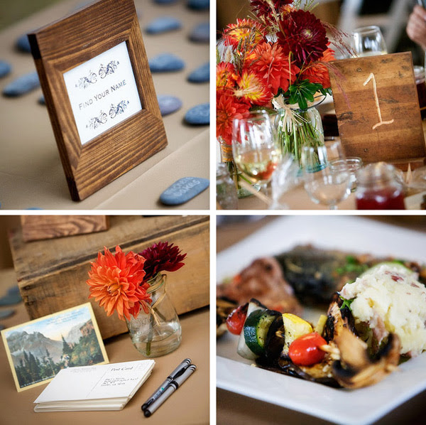 Evening Wedding Reception Decoration Ideas: Snuggle's Blog: Rustic Wedding Decorations If The Weather