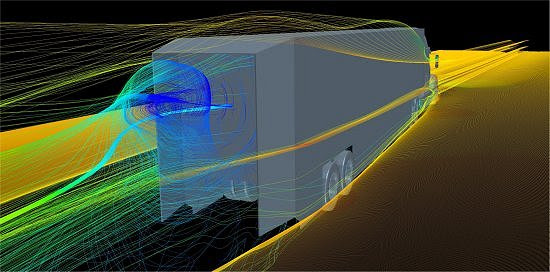 Caminhões aerodinâmicos podem economizar bilhões em combustível