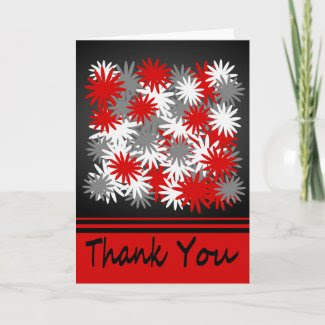 Floral Bouquet Explosion Thank You Note Card card