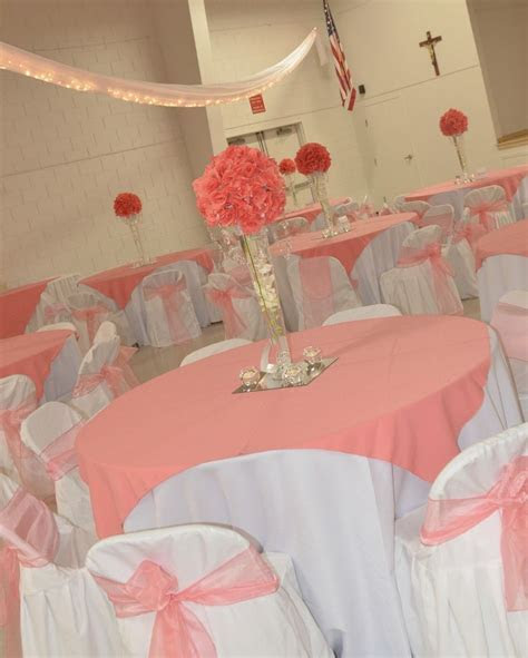 coral themed wedding centerpieces   Google Search
