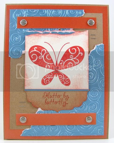 Scrolled Butterfly Card