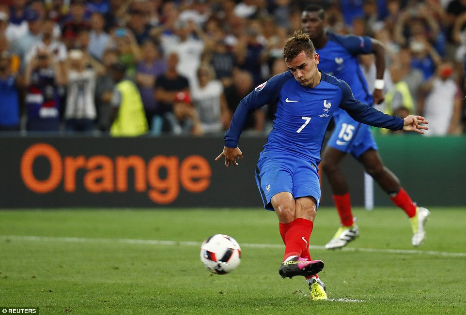 Neuer struck his left-footed effort beyond the Bayern Munich goalkeeper to put France in front