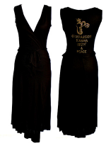 Sir Alistair Rai OM Crystal Wrap Dress in Black