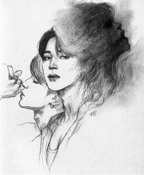 pin  mochimchim  bts fanart   bts drawings