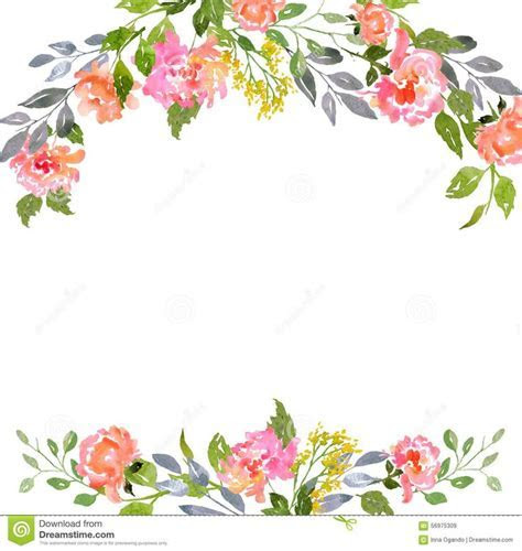 Watercolor Floral Card Template   Download From Over 43